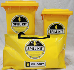 60L, 120L, 240L Oil Only Spill Kit Range